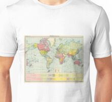 Vintage Political Map of The World (1922) Unisex T-Shirt