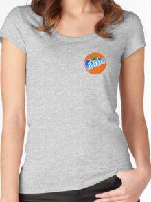 cool blue fanta logo Women's Fitted Scoop T-Shirt