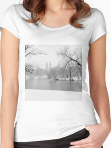 Last Snow Women's Fitted Scoop T-Shirt