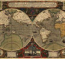 Vintage Map of The World (1595) by BravuraMedia