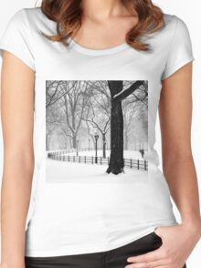 Central Park Walker Women's Fitted Scoop T-Shirt