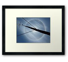 Ring around the sun  Framed Print