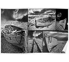 a montage of boat wrecks Poster
