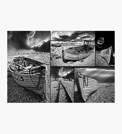 a montage of boat wrecks Photographic Print