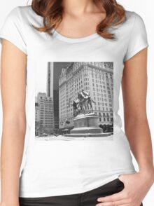 59th Street Penn Plaza Women's Fitted Scoop T-Shirt