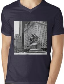 59th Street Penn Plaza Mens V-Neck T-Shirt
