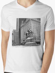 59th Street Penn Plaza Mens V-Neck T-Shirt