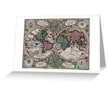 Vintage Map of The World (1744) Greeting Card