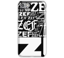 ZEFZEFZEF BLACK iPhone Case/Skin
