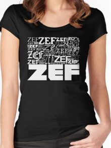 ZEFZEFZEF BLACK Women's Fitted Scoop T-Shirt