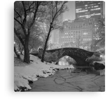Cracked Lake Under Gapstow Bridge Canvas Print