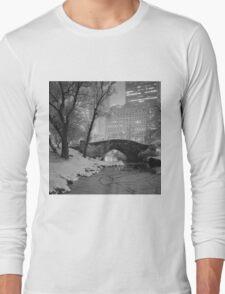 Cracked Lake Under Gapstow Bridge Long Sleeve T-Shirt