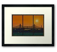 SUNSET OVER THE BRIDGE Framed Print