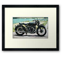 Vincent Black Shadow Framed Print