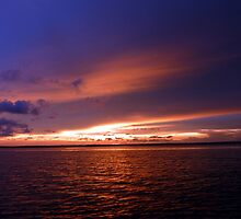 sunset from a yacht by springs