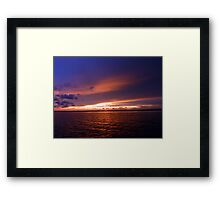 sunset from a yacht Framed Print
