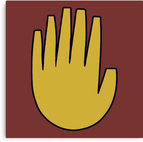 """""""Gravity Falls: The Journal Hand (vector)"""" Canvas Prints ..."""
