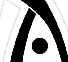 Deus Ex logo black Sticker