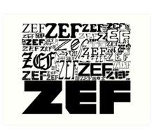 ZEFZEFZEF Art Print