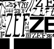 ZEFZEFZEF Sticker