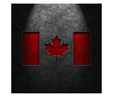 Canadian Flag Stone Texture by Brian Carson