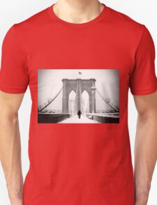 Man on Brooklyn Bridge T-Shirt