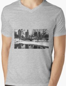 Winter Fun at the Gapstow Mens V-Neck T-Shirt
