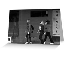 Street Life-Melbourne Greeting Card