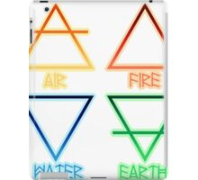 Air, Fire, Water, and Earth iPad Case/Skin