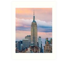 Empire State Cotton Candy Art Print