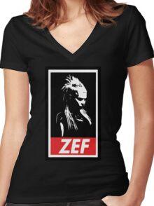 Zef Queen Women's Fitted V-Neck T-Shirt