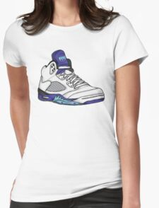 Shoes Grapes (Kicks) Womens Fitted T-Shirt