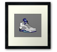 Shoes Grapes (Kicks) Framed Print