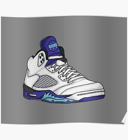Shoes Grapes (Kicks) Poster