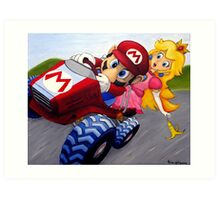 Mario Kart Double Dash Oil Painting Art Print