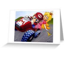 Mario Kart Double Dash Oil Painting Greeting Card