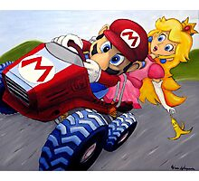 Mario Kart Double Dash Oil Painting Photographic Print
