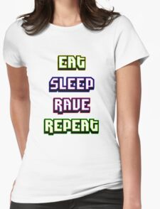 (BESTSELLER) Eat Sleep Rave Repeat Womens Fitted T-Shirt