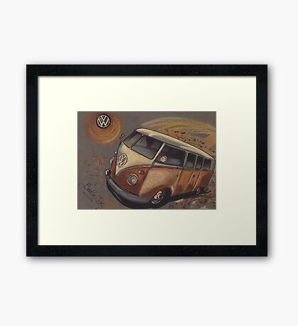Space Bus Framed Print