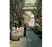 Leadenhall Market London, UK, 1970's. Photographic Print