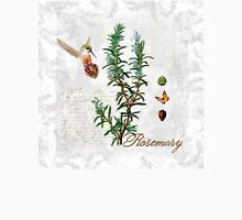 Shabby Chic Rosemary herb Hummingbird Botanical illustration art Unisex T-Shirt