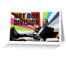 Sherlock - Not our division Greeting Card