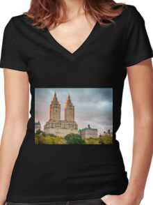 San Remo After Rain Women's Fitted V-Neck T-Shirt