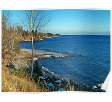 North of TWO Harbors ~ Lake superior, Minnesota Poster