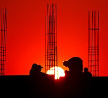 Men at work by Prasad