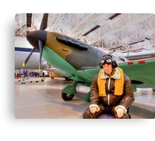 James May`s 1:1 Airfix Spitfire Canvas Print