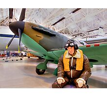 James May`s 1:1 Airfix Spitfire Photographic Print