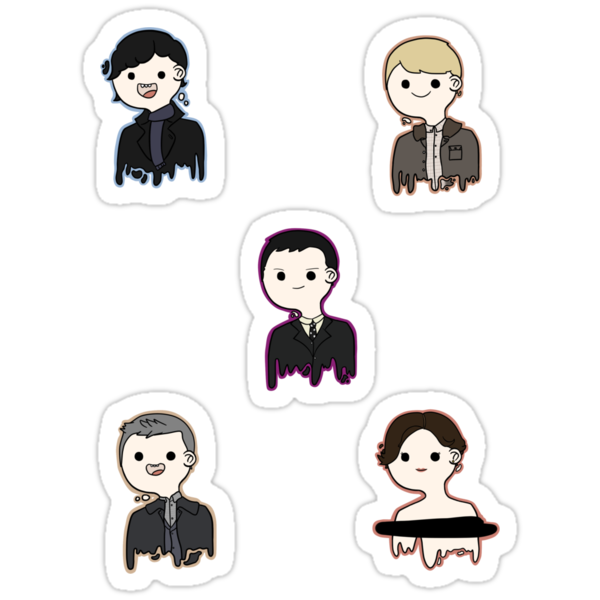 Sherlock Sticker Set (NOW WITH ADDED D.I. LESTRADE) by jastrul