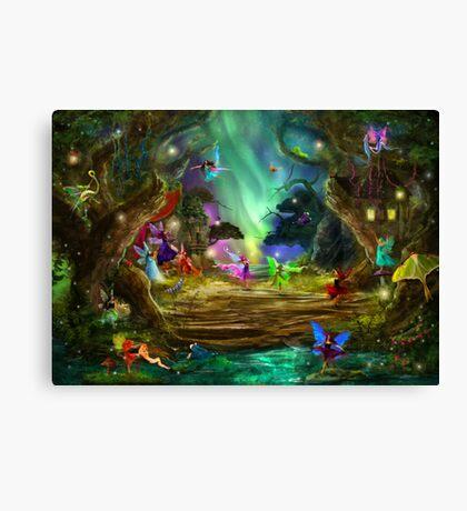 The Dancing Auroras Canvas Print