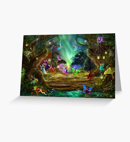 The Dancing Auroras Greeting Card